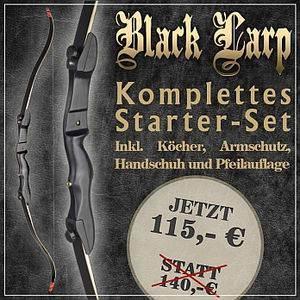 Black LARP Recurvebogenset fürs Bogenschiessen
