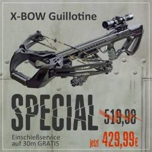 Sonderangebot Armbrust Guillotine