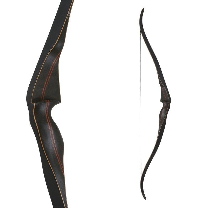 BODNIK BOWS Black Kiowa - 52 - 30-60 lbs - Recurve Bow - by Bearpaw