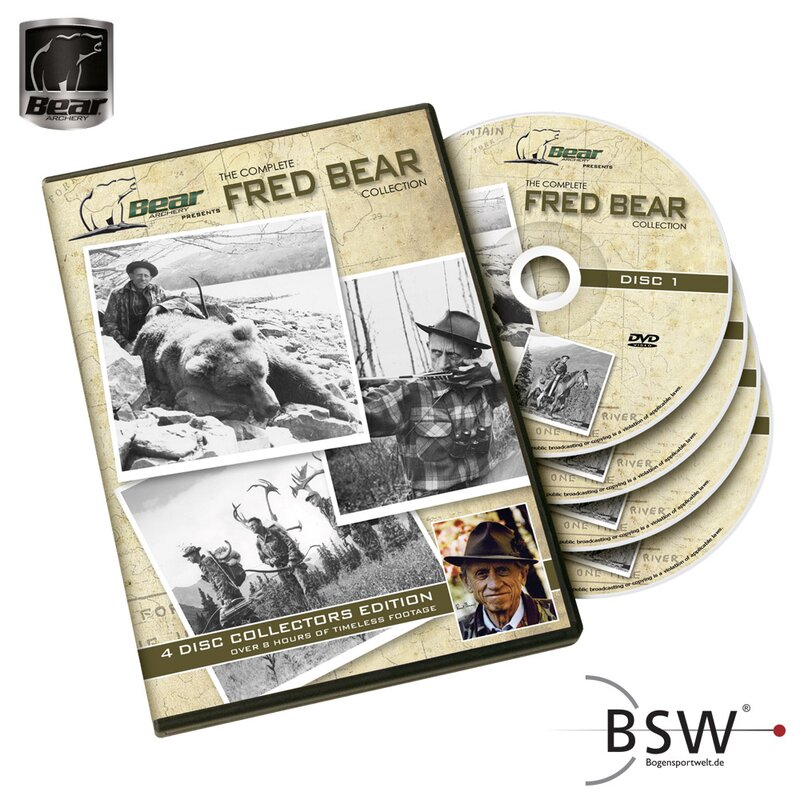 DVD - FRED BEAR ARCHERY - Die komplette Fred Bear Collection - 4 DVD`s