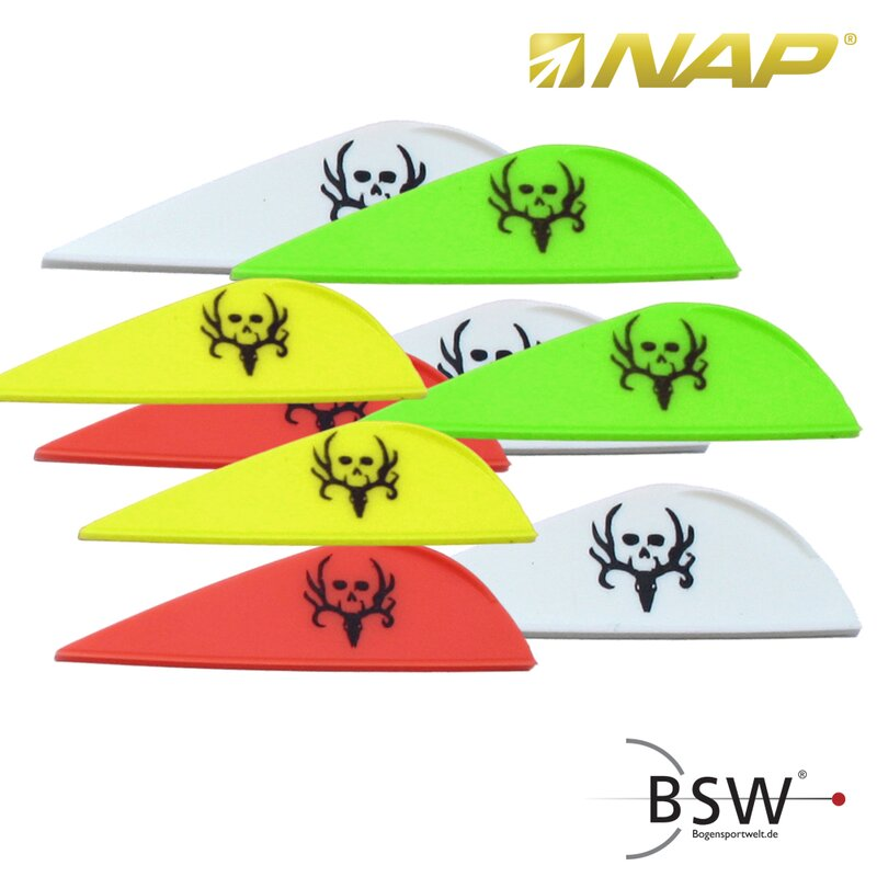 NAP Quikspin Vanes - Bone Collector - 2 - various Colors - 36 Pieces