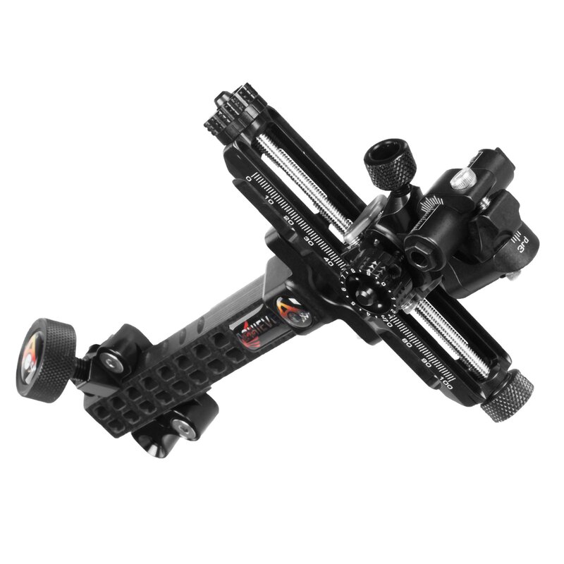 AXCEL Achieve CX Carbon - Compound Bow Sight without Dampeners - 6 - Right Hand - Black/Black