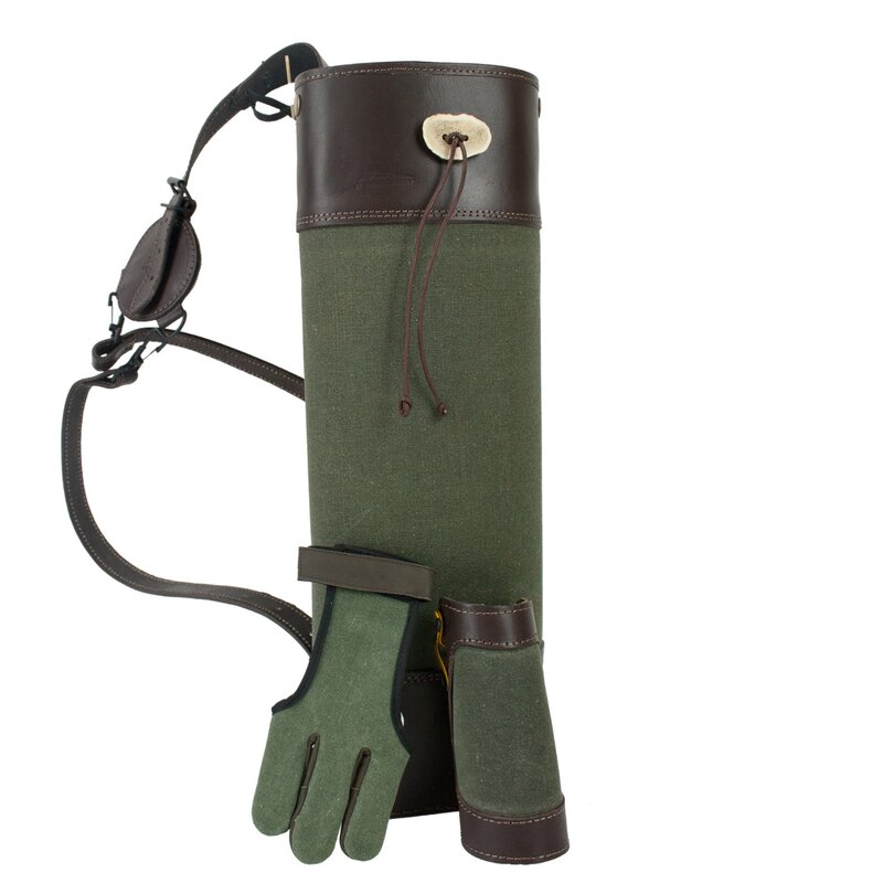 BEIER Green All In - Bogensport-Set - Köcher, Handschuh und Armschutz