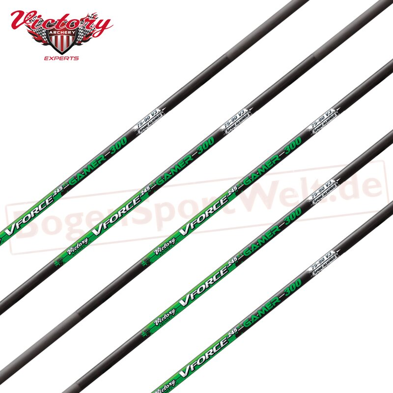 Shaft | VICTORY ARCHERY VForce 245 - Gamer - Carbon - incl. Insert and Nock