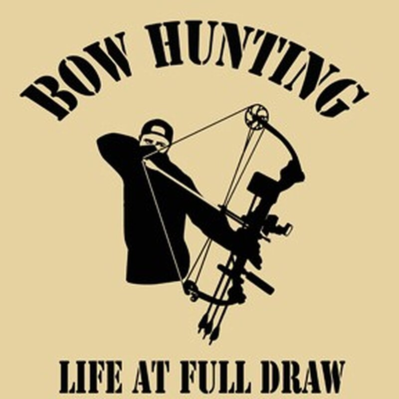 Aufkleber - Bowhunting - Life at full draw USA - 15x14 cm