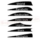 BEARPAW Shark Cutter - Feather Stamp - various Shapes