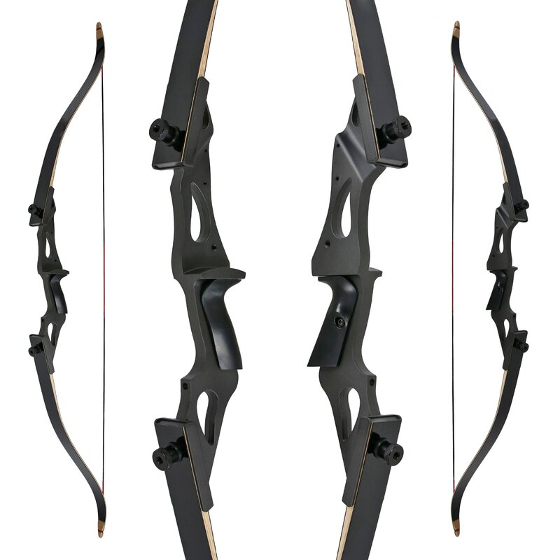 DRAKE Black Raven - 58 - 25-60 lbs - Take Down Recurve Bow