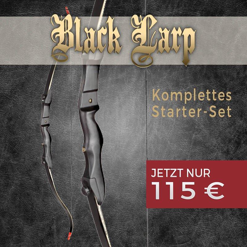 Set RAGIM Black LARP 68 Zoll 18-32 lbs Recurvebogen
