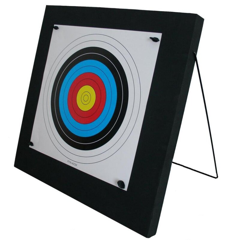 !!TIP!! STRONGHOLD Foam Target Junior - 60x60x4.5 cm - up to 20 lbs - incl. Stand, Target Nails and Target Face