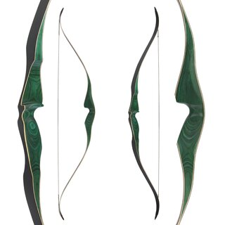 JACKALOPE - Malachite - 60 - One Piece Recurve Bow -...