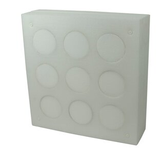 STRONGHOLD Professional 1 - 80x80x20 cm - with 9...