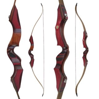 JACKALOPE - Red Beryl - 62 - Refined Recurve Bow Take...
