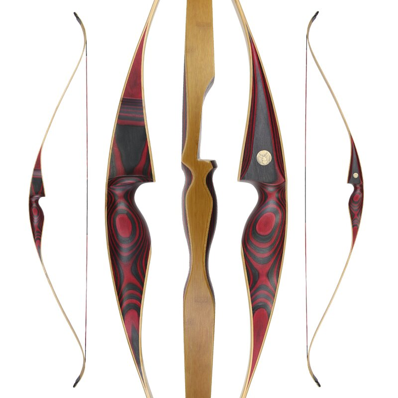 JACKALOPE - Red Beryl - 64 - One Piece Recurve Bow - 25-50 lbs