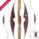 JACKALOPE - Red Beryl - 64 Zoll - One Piece Recurvebogen - 30-50 lbs