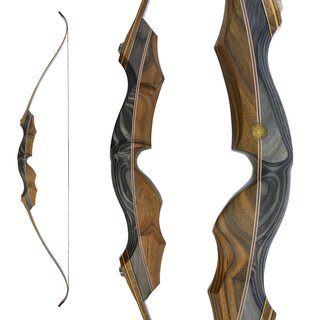 JACKALOPE - Obsidian - 62 - Classic Recurve Bow Take Down...