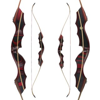 JACKALOPE - Red Beryl - 64 - Classic Recurve Bow Take...