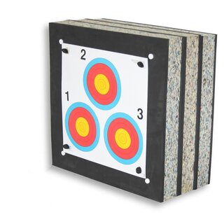 Zielscheibe 60x60x30 cm AVALON Lamellen-Schaumscheibe mit Holzrahmen