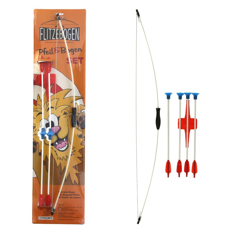 FLITZEBOGEN Kleiner Löwe - Archery Set with 4 Arrows