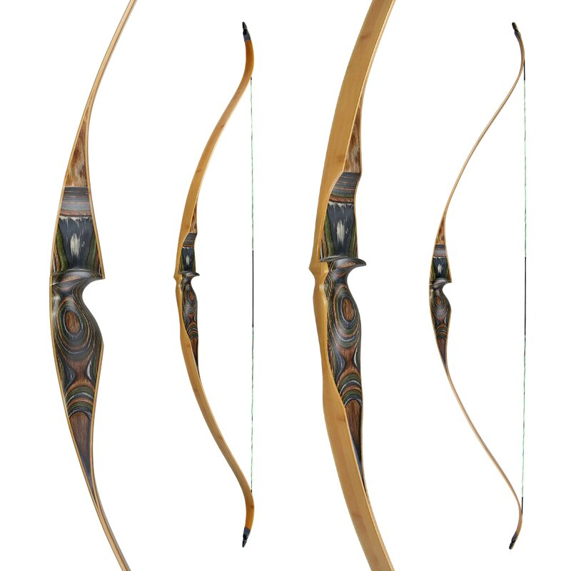 JACKALOPE - Tourmaline - 64 -One Piece Recurve Bow  - 25-50 lbs