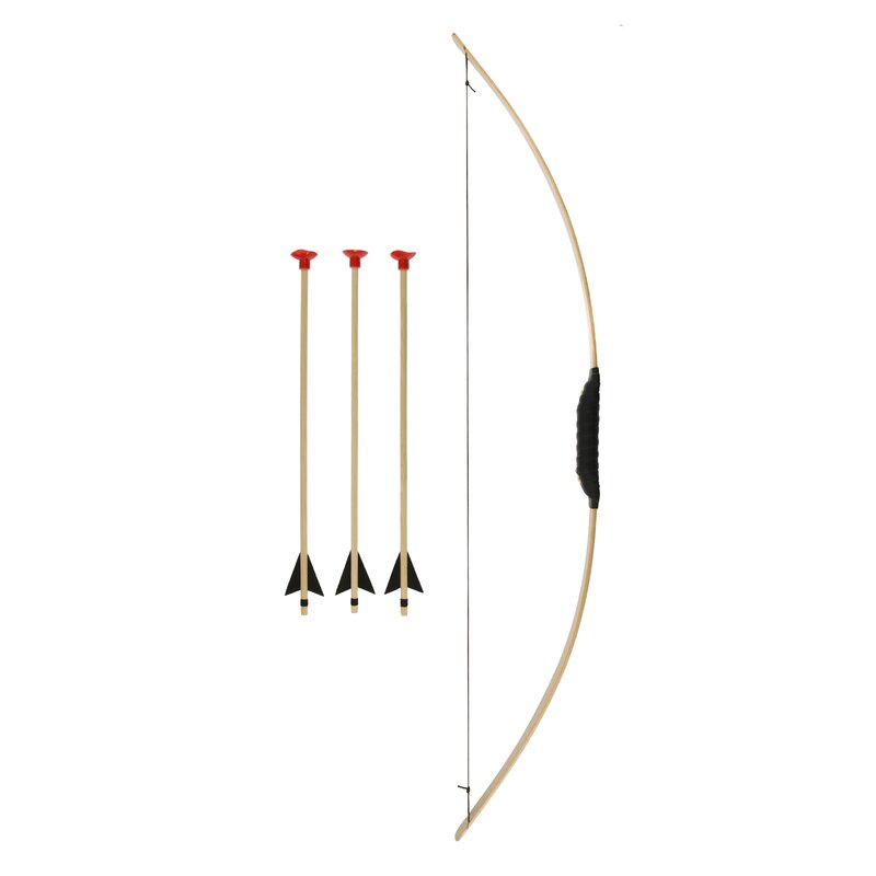 HOLZKÖNIG Longbow including 3 Arrows