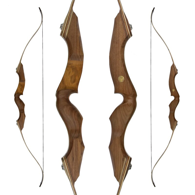 JACKALOPE - Amber - 64 - Refined Recurve Bow Take Down - 25-50 lbs