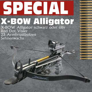 [SPECIAL] X-BOW Alligator - Red Dot Package - 80 lbs -...