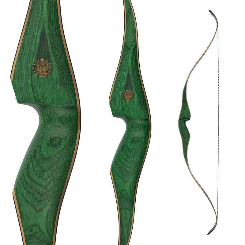 JACKALOPE - Malachite+ - 62 - One Piece Recurve Bow - 40 lbs | Right Hand