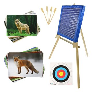 BEGINNER´S SET incl. Stand, Target Faces and Straw Mat -...