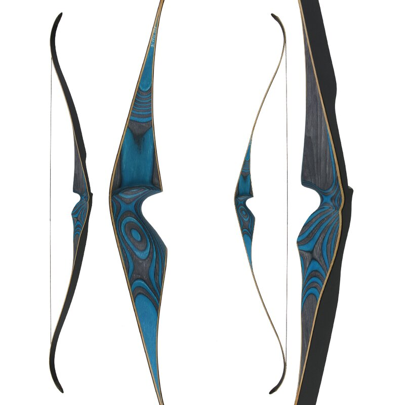 2nd CHANCE | JACKALOPE - Diamond - 60 - One Piece Recurve Bow - 45 lbs | Right Hand | Colour: Blue / Black
