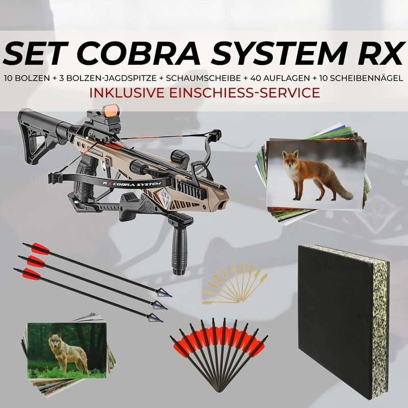[SPECIAL] EK ARCHERY Cobra System RX - 130 lbs - Pistol Crossbow - incl. Zeroing Service & Accessories