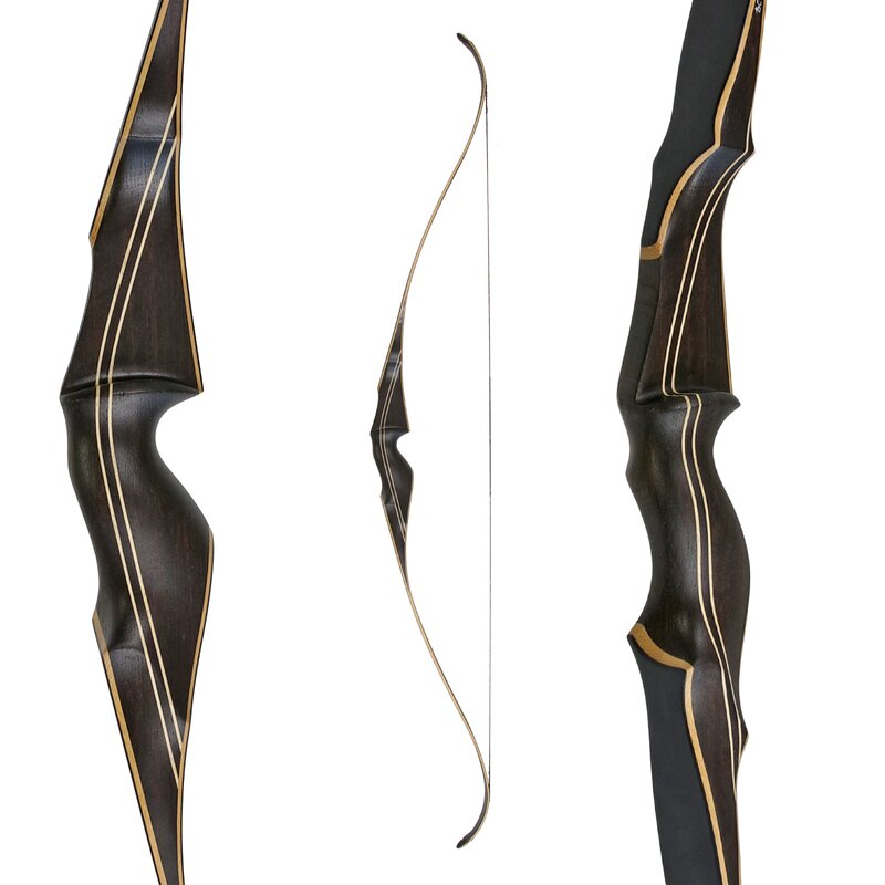 2nd CHANCE | JACKALOPE by BODNIK BOWS - Smoked Amber - Black - 60 - Recurve Bow - 25 lbs | Right Hand