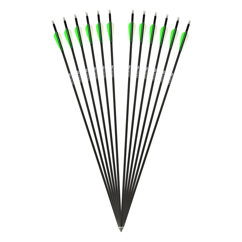 Complete Arrow | DRAKE Fire - Carbon Hybrid Arrow - 12 pack