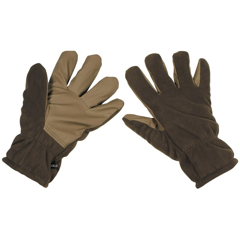 MFH Fleece Gloves - Alpin - OD green - windproof