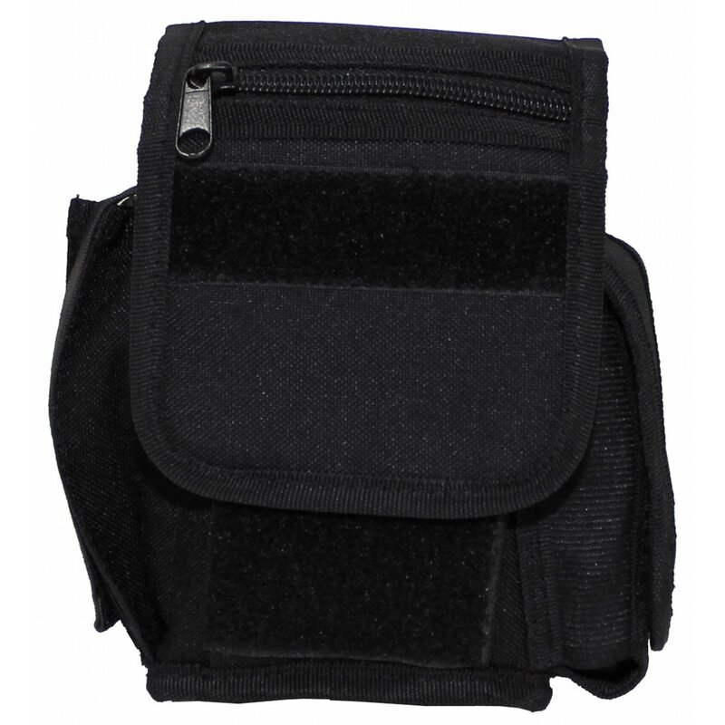 MFH Belt Pouch with 3 compartments -  black