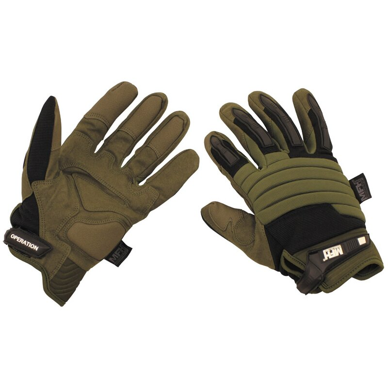MFH HighDefence Tactical Handschuhe - Operation - oliv-schwarz