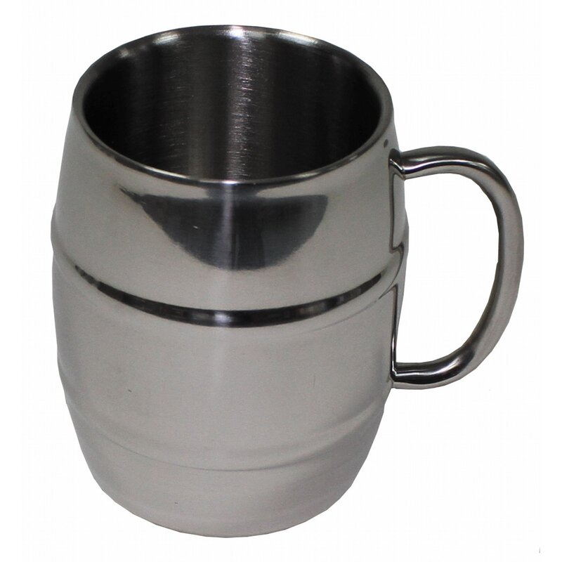 MFH Mug - Barrel - Stainless Steel - 450 ml - double-walled