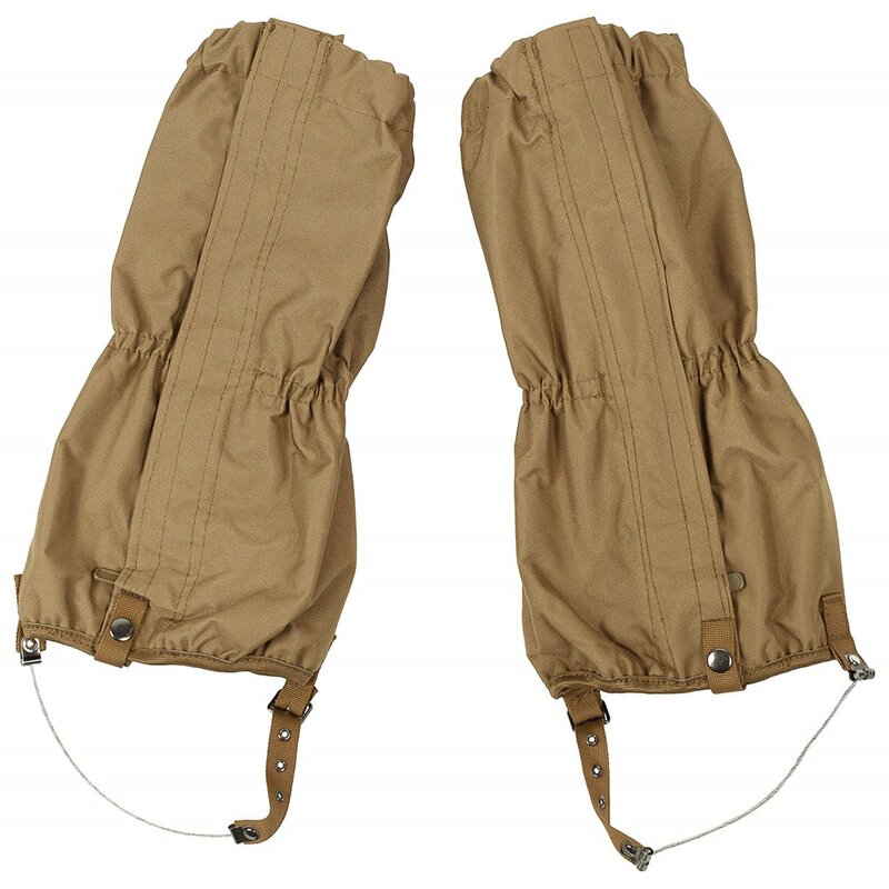 MFH Gaiters - brown -  with zip - steel wire