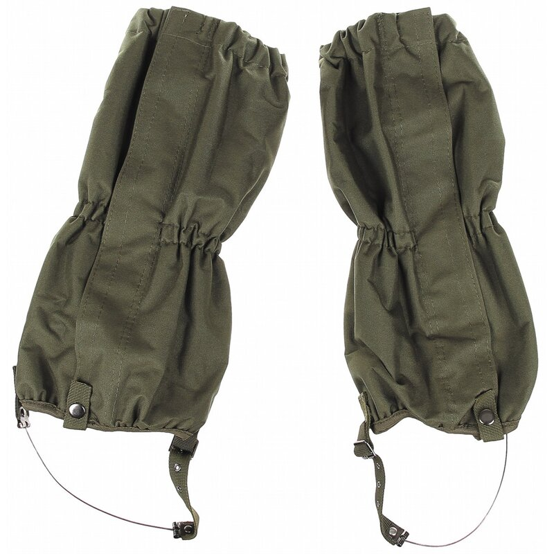 MFH Gaiters - OD green -  with zip - steel wire