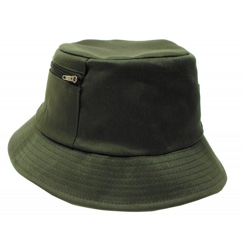 MFH Fisher Hat - small side pocket - OD green