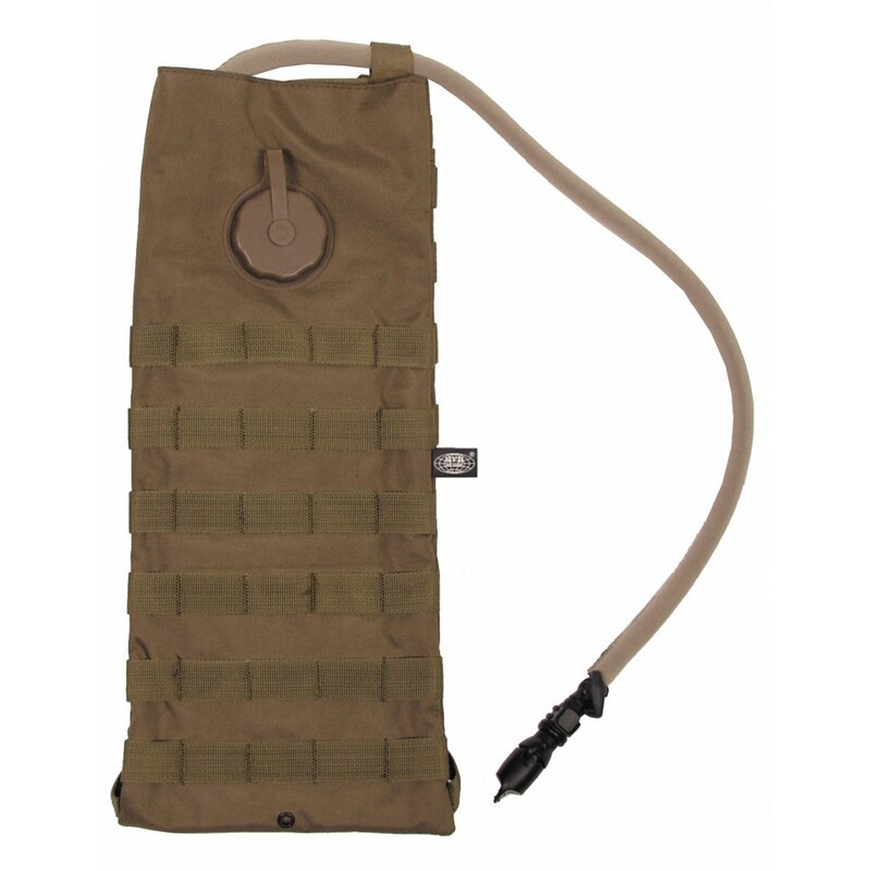 MFH Hydration Pack - MOLLE - 2,5 l - with TPU bladder - coyote tan