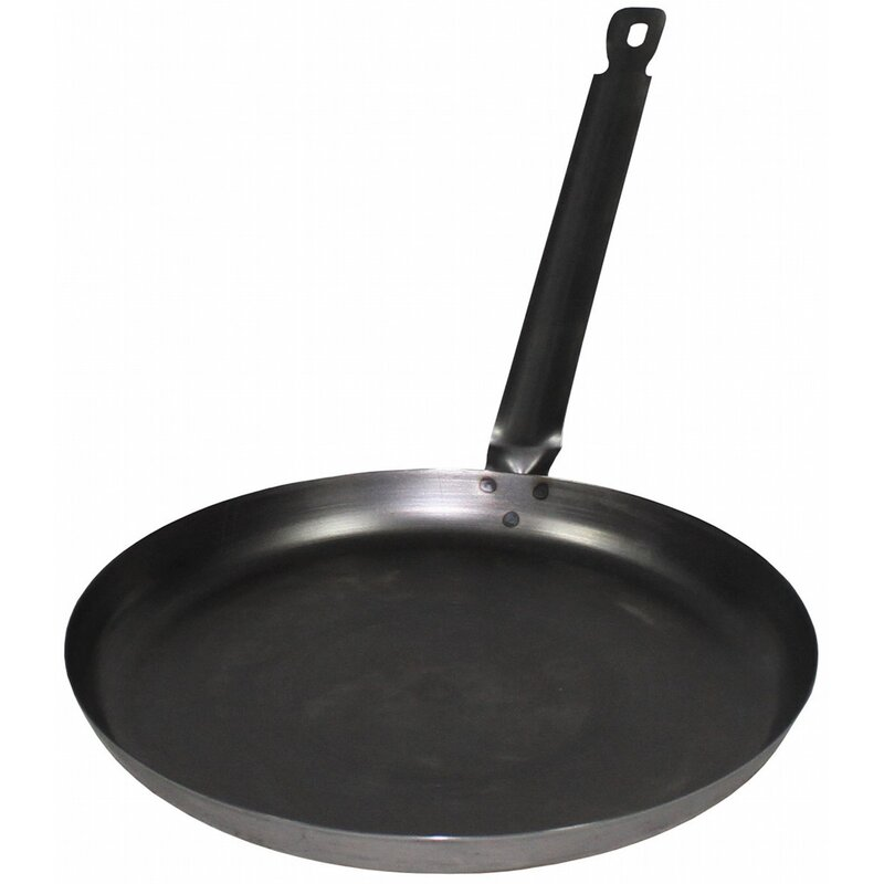 HU Frying Pan - Iron - with handle - large