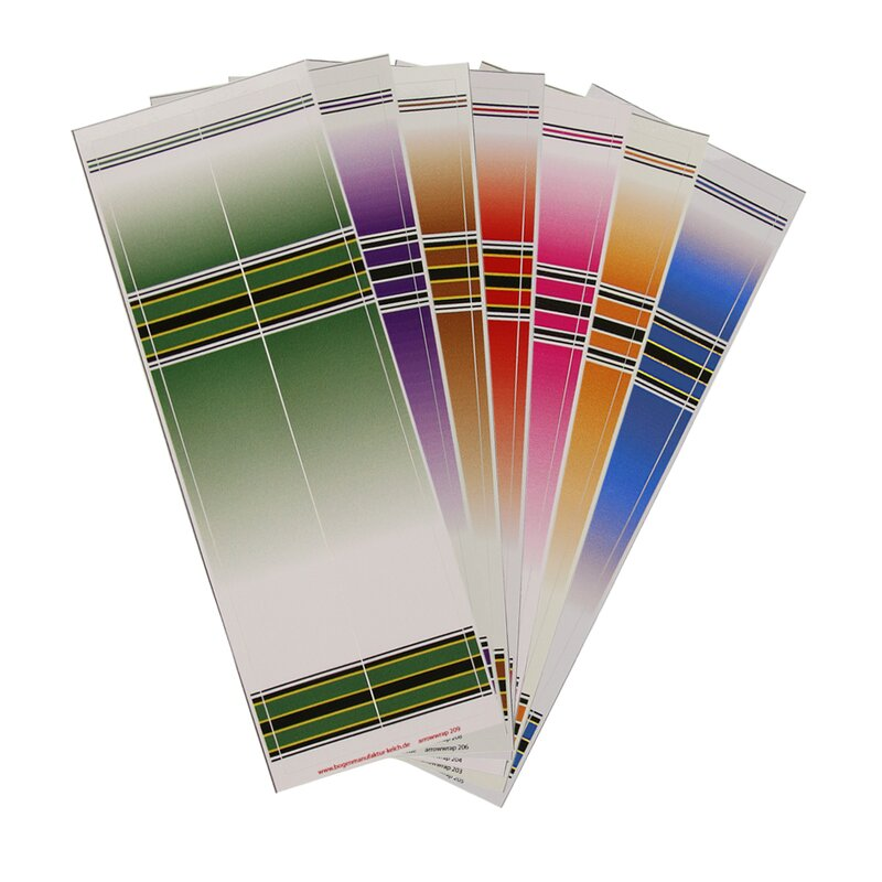 Arrow Wraps | Series 200 - Color Gradient - Length: 8 - 2 Pieces