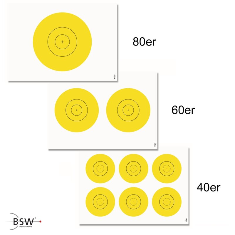 Self-adhesive Dots for Bow Target Faces