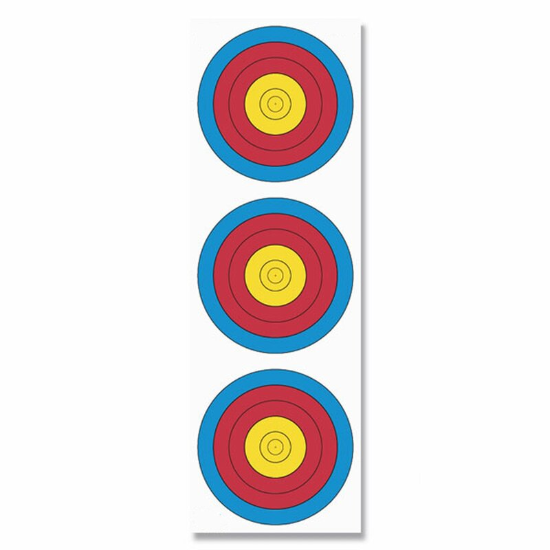 FITA Bow Target Face - 3 Spots, vertical - Compound - 22x66 cm - Nylon Reinforced