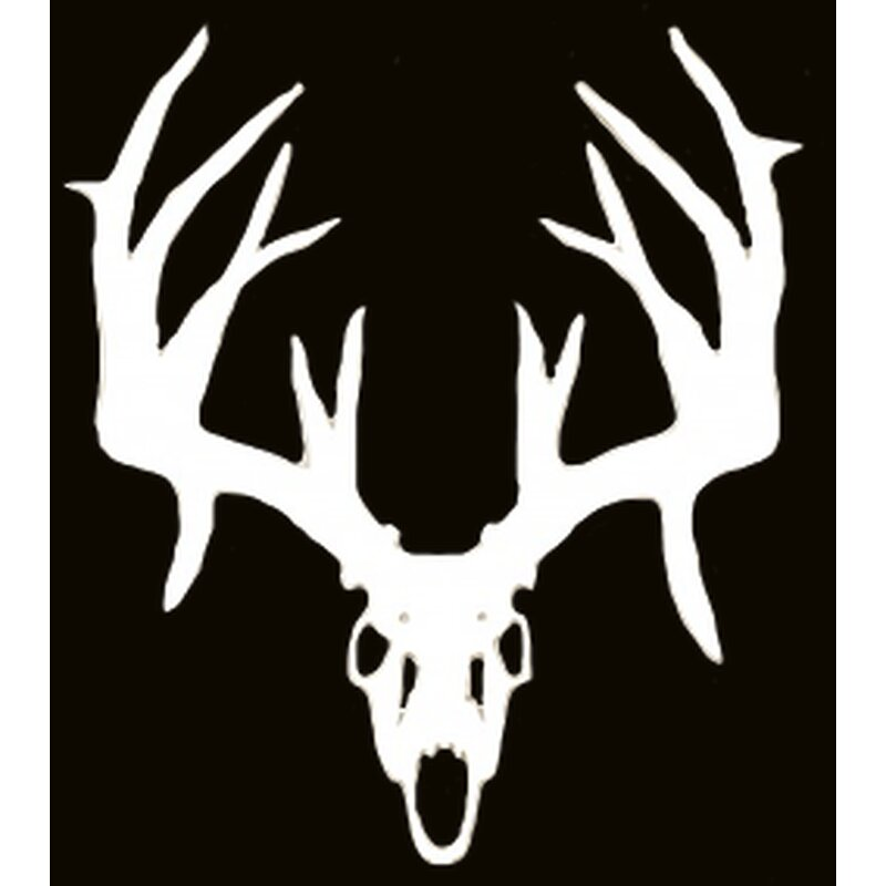Sticker - Whitetail Skull USA - 13x14 cm