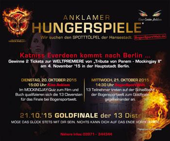Die Anklamer Hungerspiele: Gewinne zwei Tickets für die Weltpremiere von