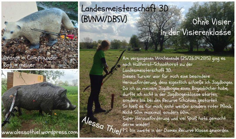 Alessa Thiels Wettkampfbericht zur Landesmeisterschaft BVNW/DBSV in Hüllhorst-Schnathorst