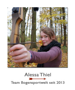 Bogenschützin Alessa Thiel im Sponsoring-Team der BogenSportWelt.de