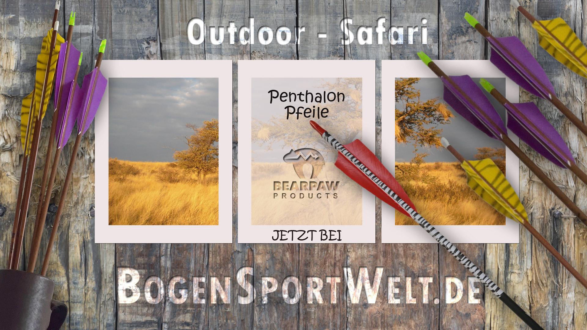 Auf Outdoor-Safari mit den neuen Penthalon Pfeilen von Bearpaw bei der BogenSportWelt.de