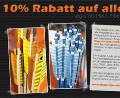 Sonder-Aktion Pfeile: 10% Rabatt!